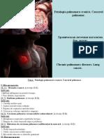 2.Patologia pulmonara cronica. Cancerul pulmonar