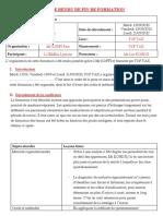 COMPTE RENDU DE FIN DE FORMATION