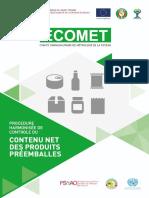 Procédure harmonisée de contrôle du contenu net des produits préemballés