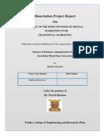 Study Of The EffectivenessOf OnlineMarketing On Integrated Marketing Communication