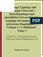 Language Typology and Language Universals