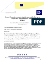 Estrategic framework for education and training UE 2020