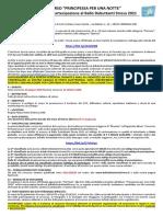 REGOLAMENTO CONCORSO PRINCIPESSA X UNA NOTTE 2021