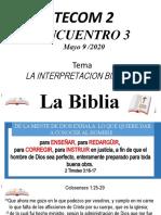 BIBLIOLOGIA  INTERPRETACION  1. cata