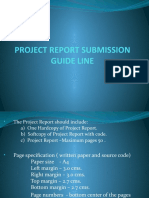 PROJECT REPORT SUBMISSION GUIDE LINE