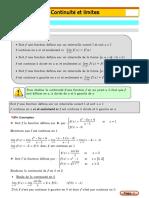 cours continuité et limites pour bac maths