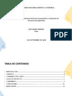 Tarea 1 Fase 1 Reconocimiento del curso Formulación y Evaluación de Proyectos de Ingeniería