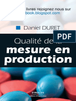 Qualite de La Mesure en Production Par
