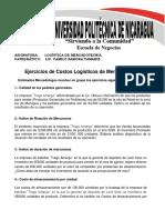 Ejercicios de Costos Logísticos de Mercadotecnia Unidad N°1