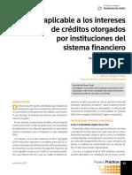 IVA a intereses del sistema financiero