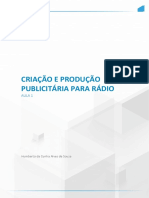 Criação e Produção Publicitária Para Rádio 1