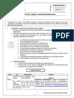 G13-El debate - procedimiento; uso de argumentos y contrargumentos; uso de recursos expresivos
