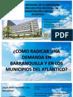 CORREOS RADICACION DEMANDAS