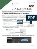 056-121 DSEGateway® Quick Set up Guide