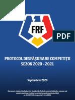 Protocol medical pentru desfășurarea competițiilor