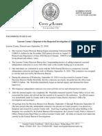 Luzerne County Press Release