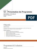 00 Présentation du programme de Java I