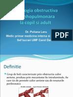 Patologia obstructiva bronhopulmonara