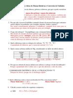 Guia de estudo sobre video Massas Relativas e Conversão de Unidades