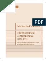 Manual do Candidato História Mundial Contemporânea 3° Edição