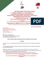 DUANNE C. ROMANELLO MACN-A035_Notification of Affidavit of UCC1 Financing Statement