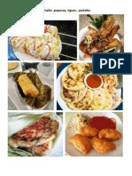 elote locos, yuca frita, tamales, comida tipica de el salvador