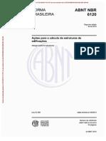 NBR 6120 2019 - Ações para o cálculo de estruturas de edificações