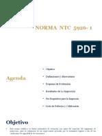 Presentacion Norma NTC 5926-1