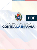 """""""La verdad de Venezuela contra la Infamia. Datos y testimonios de un país bajo asedio"""""""