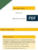 Even More Games - Lavrov (2012-13)