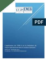 L'application de l'IFRS9 et la limitation du risque opérationnel dans le secteur bancaire