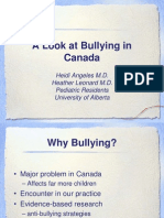 A Look at Bullying in Canada