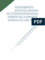 INFORME TECNICO EVALUACION DE SISTEMA ELECTRICO DE FUNDO EL ABO S.A.C.
