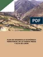 Plan de Desarrollo Económico Territorial de La Cuenca Alta y Media Del Rio Lurin