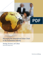 Managing the international value chain