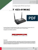 NT - ONT 423-41WAC - Configuração PPPoE Dual Stack