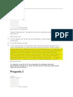 Evaluaciones Customer Relationship Unidad 1 2 3