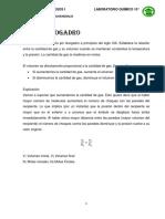 GASES IDEALES. QUIMICA DE PROCESOS I