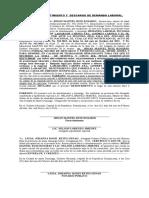 ACTO DE  DESISTIMIENTO Y  DESCARGO  DE DEMANDA LABORAL