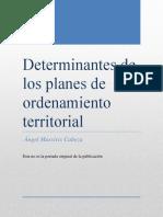 MASSIRIS C, Angel Determinantes de los planes de ordenamiento territorial