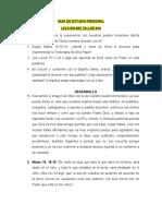 GUÍA DE ESTUDIO PERSONAL TALLER #18 LECCIÓN 55