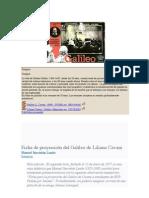 Propuesta de Manuel Sacristán para trabajar 'Galileo'