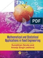 Mathematical and Statistical Applications in Food - 2020