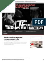 Abolicionismo Penal Latinoamericano