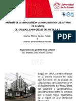 6. Producto de seminario- Art.  Analisis de la importancia de implementar un SGC , caso Ondas del Meta S.A.S