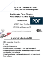 Lammps Tutorial Oct06 | Materials Science | Physical Sciences
