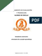 Reglamento-evaluación 2020   rev. 12 del 12 de 2019 CON MODIFICACIONES HECHAS EN CONSEJO
