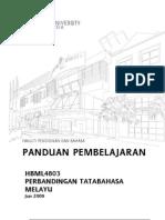 HBML4803 Perbandingan Tatabahasa Melayu