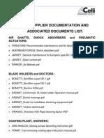 Subsupplier and associated documentation list 017_V1.0