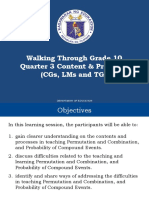 Walk Through - Math 10, Quarter 3